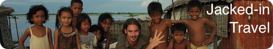 Jason with Cambodian children in August 2001